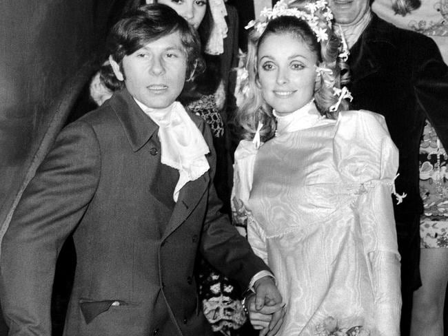 Murder victim Sharon Tate at her 1968 wedding to director Roman Polanski the year Manson directed her stabbing murder. Picture: AFP