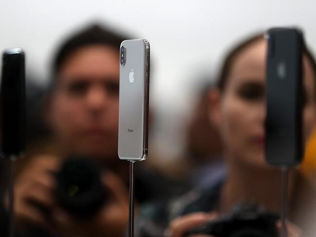 Apple has released its most expensive iPhone yet — the X model. Picture: Getty/AFP