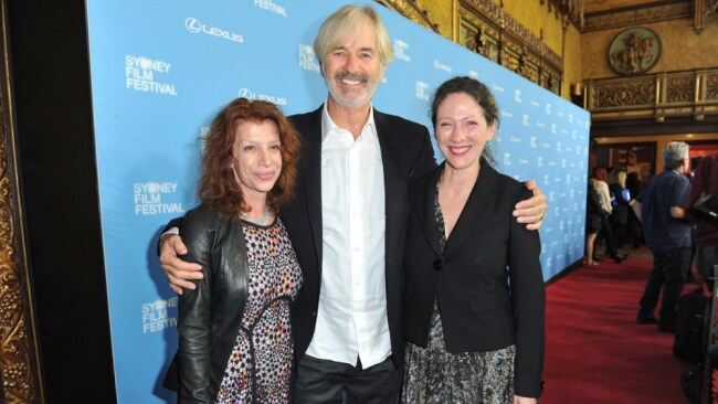 Jarratt with wife Rosa Miano (left) and CEO of the Sydney Film Festival Leigh Small. Source: Facebook/Sydney Film Festival