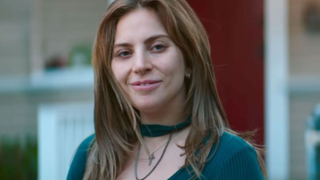 Lady Gaga without make-up in A Star is Born. Source: Warner Bros.