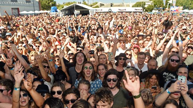 St Jeromes Laneway Festival in 2016 in Radelaide. Laneway not pictured.
