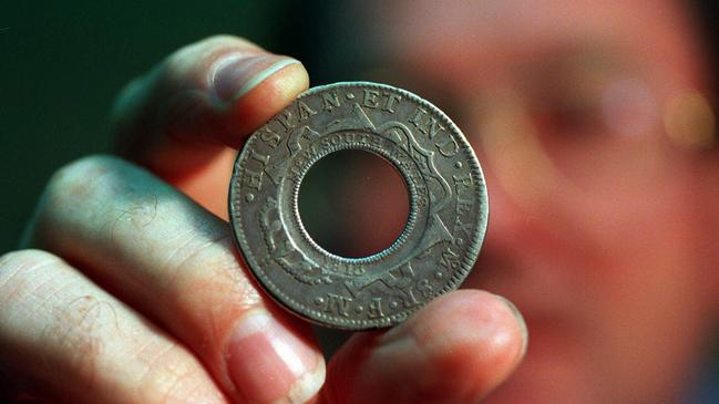 Why this Australian 'holey dollar' coin is worth $300k