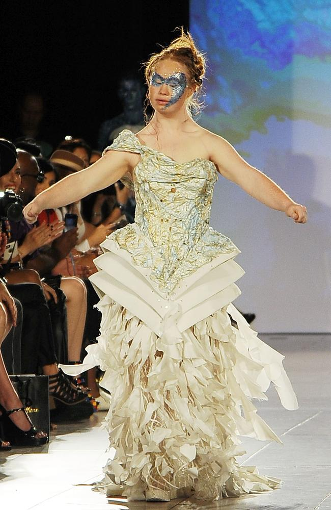"""I want to do it again tomorrow!"" says model Madeline Stuart of her runway turn at New York Fashion Week."
