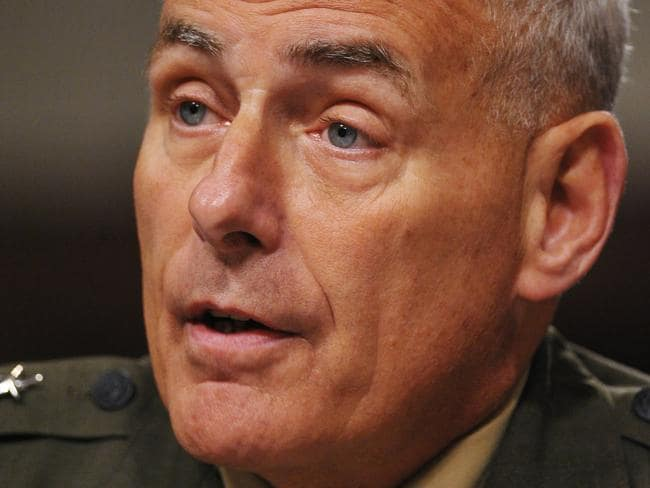 Donald Trump has brought up General John Kelly's dead son, Robert, to prove a point. Picture: AFP