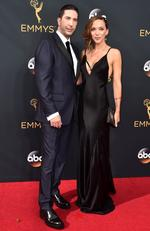 David Schwimmer and Zoe Buckman attend the 68th Annual Primetime Emmy Awards on September 18, 2016 in Los Angeles, California. Picture: Getty