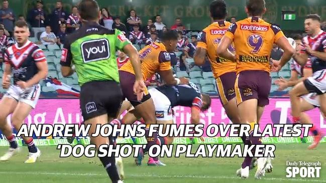 Tevita Pangai's latest 'dog shot' has Andrew Johns fuming...again