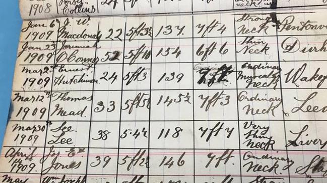 He kept a meticulous 'death diary'. Picture: Boldon Auctions
