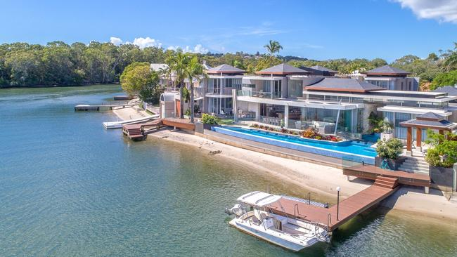 This property at 29-31 Wyuna Dr, Noosaville, recently sold for about $11.9m.