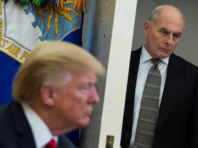 US Chief of Staff John Kelly is out the door, according to reports, as White House chief of staff. Picture: AFP