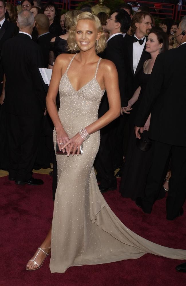 One of Charlize Theron's best ever red carpet looks in 2004. Picture: Frank Trapper/Corbis via Getty Images