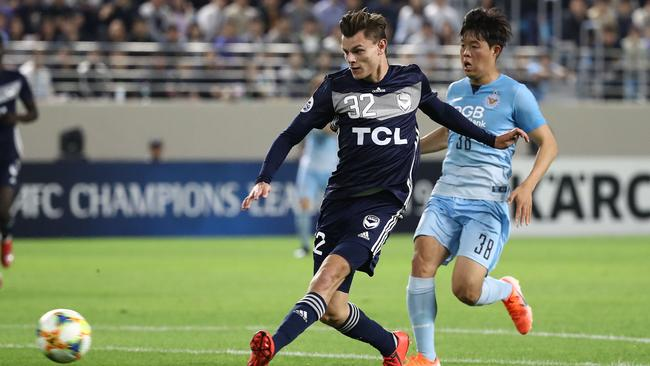 Victory youngster Jack Palazzolo in action against Daegu on Wednesday night. Picture: Getty Images