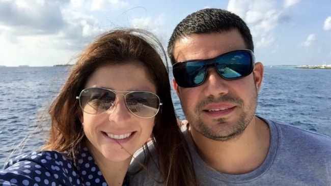 Cecilia Haddad with her ex-husband Filipe Torres. Photo: Supplied