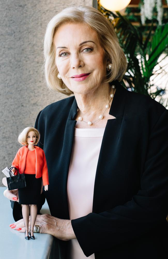 Ita Buttrose is said to be thrilled with her customised Barbie doll.