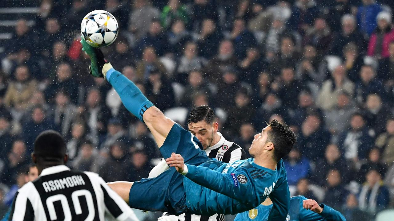 Ronaldo famously scored an incredible overhead kick against his current club in the Champions League semi-final.