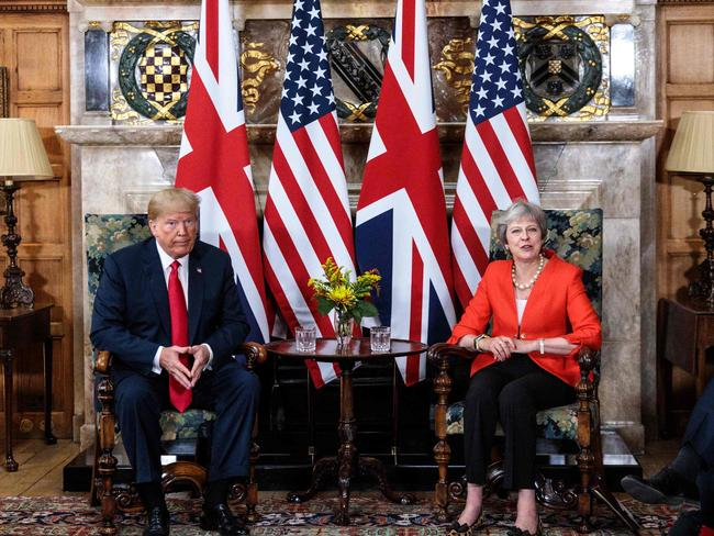 Mr Trump slammed May's Brexit strategy ahead of his visit, and warned it could have a negative impact on any US-UK trade deal. Picture: Getty Images / Pool / Jack Taylor