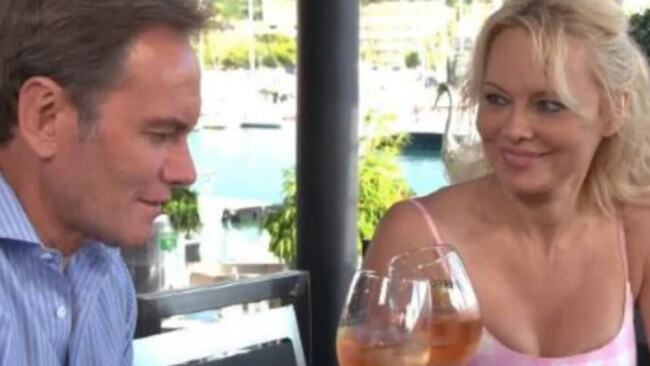 Pamela Anderson is interviewed by Liam Bartlett at her new home in the south of France. Source: Supplied