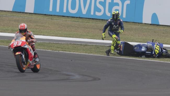 MotoGP: Valentino Rossi says Marc Marquez is 'destroying sport' after Argentina crash | Fox Sports