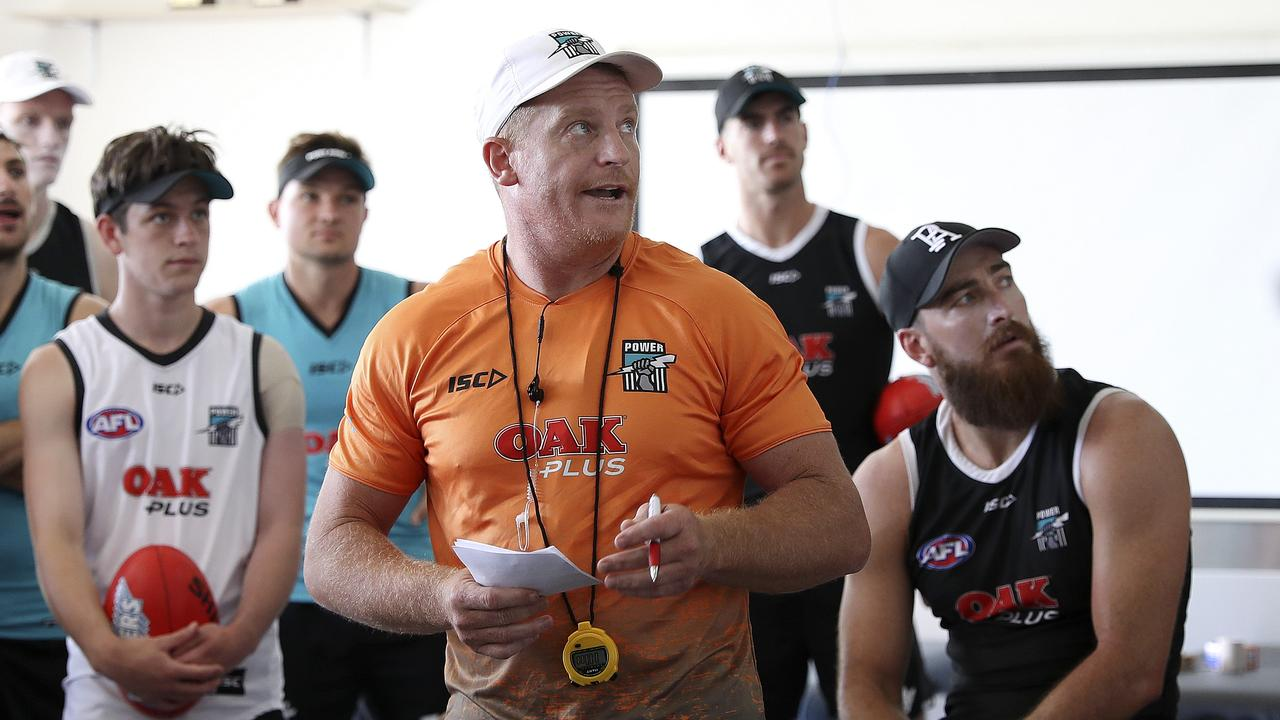 Michael Voss has been an assistant at Port Adelaide. Picture: Sarah Reed