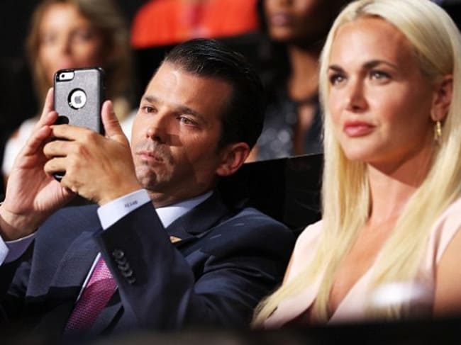 Don Jr and his wife Vanessa Trump. Picture: Getty