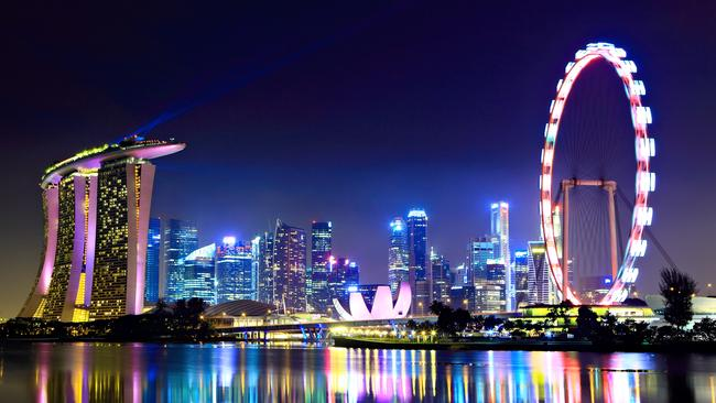 Enjoy the Singapore skyline at night. Picture: Supplied.