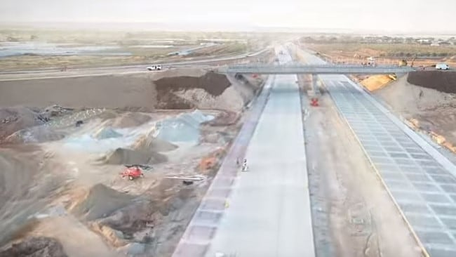 The Waterloo Corner Interchange overpass, which has opened to the public. Picture: DPTI