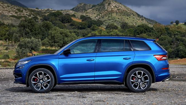 The Kodiaq RS is powered by a beefy twin-turbo diesel engine.