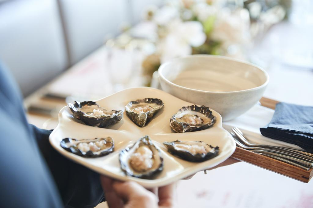 Oysters with Stella Artois mignonette.