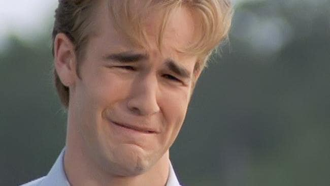Van Der Beek shot to fame on TV hit Dawson's Creek at the age of 21. Picture: News Corp