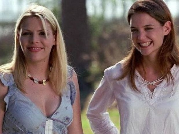 Busy Philipps and Katie Holmes on Dawson's Creek. Picture: Supplied