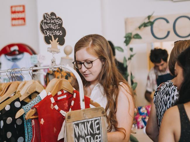 Pick up a vintage buy at one the markets across Melbourne this weekend. Picture: Supplied