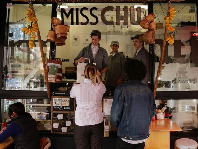 The former Miss Chu tuckshop in Darlinghurst, closed after the company went into administration.