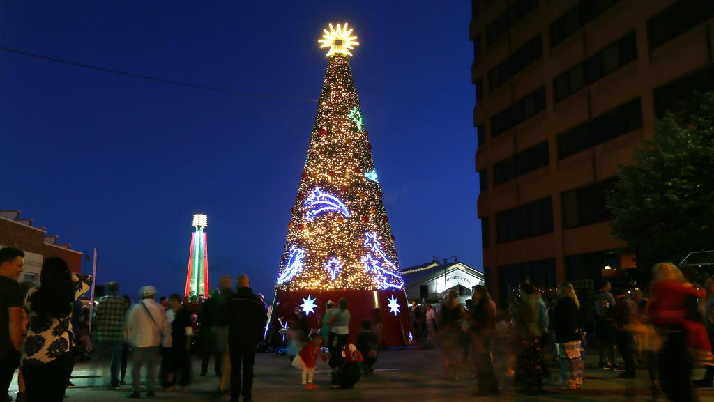 the hobart city councils new christmas tree at mawson place pictures matt thompson - Cost Of Christmas Tree