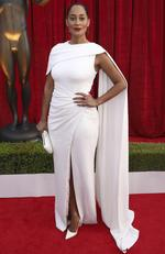Tracee Ellis Ross arrives at the 24th annual Screen Actors Guild Awards at the Shrine Auditorium Expo Hall on Sunday, Jan. 21, 2018, in Los Angeles. Picture: Matt Sayles/Invision/AP