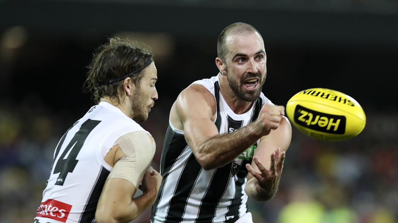 Steele Sidebottom collected a career-high 43 disposals last Friday night.