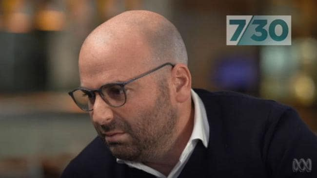 George Calombaris addresses the underpayment scandal on ABC's 7.30 last year.