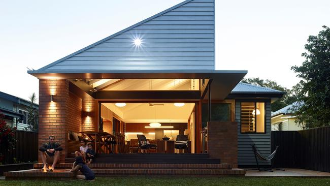 The back of the home at 77 McConaghy St, Mitchelton, after the renovation. Photographer: Scott Burrows.