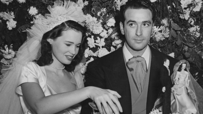Gloria Vanderbilt with her first husband Pat DiCicco in 1941. Picture: Keystone/Hulton Archive/Getty Images