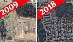 Development changes in suburbs of Sydney and Melbourne as seen in images provided by Nearap - 3. Rouse Hill, May 2018.jpg Picture: Nearmap