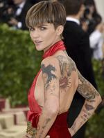 Ruby Rose attends the Heavenly Bodies: Fashion and The Catholic Imagination Costume Institute Gala at The Metropolitan Museum of Art on May 7, 2018 in New York City. Picture: AP