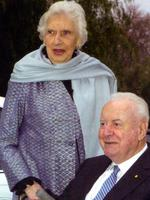 Gough Whitlam and wife Margaret side by side in Greece. Pic taken from biography of Margaret Whitlam.