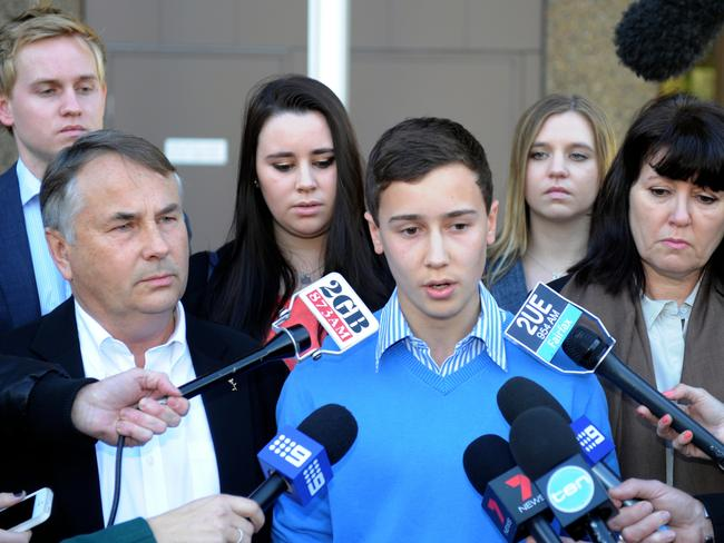 The family was targeted by online trolls after their campaigning partly led to tougher lockout laws in New South Wales. Picture: AAP Image/Dean Lewins)