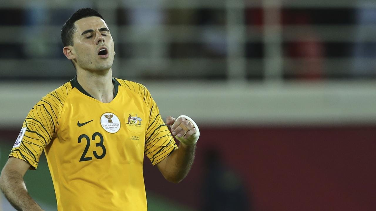 Australia's midfielder Tomas Rogic will miss the quarter final with suspension.