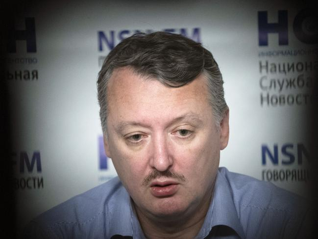 Igor Girkin, a former military chief for Russia-backed separatists in eastern Ukraine, was one of four people charged with murder over the downing of MH17. Picture: AP Photo/Pavel Golovkin