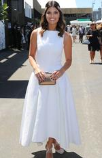 Zoe Ventoura poses at the Myer Marquee on Oaks Day at Flemington Racecourse on November 3, 2016 in Melbourne, Australia. Picture: Scott Barbour/Getty Images