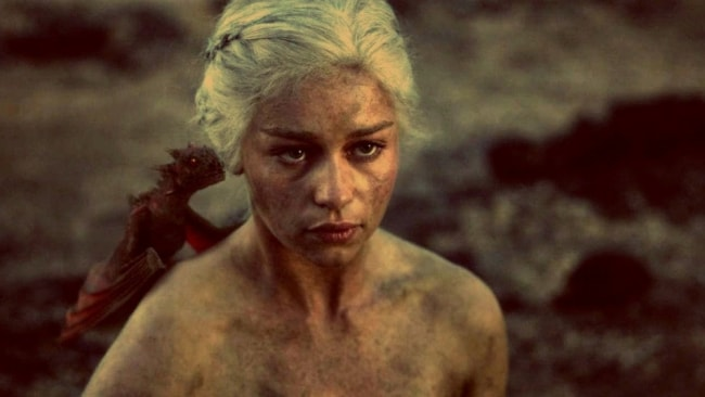 I suppose one has to be naked if they're reborn? Photo: 'Game of Thrones'