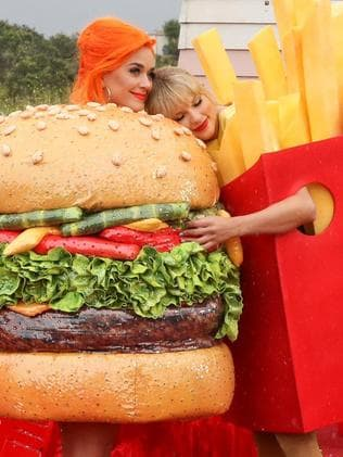 Katy Perry and Taylor Swift have hugged their issues out. Picture: Supplied