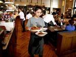 Food service at Jamie's Italian. Picture: Mike Burton