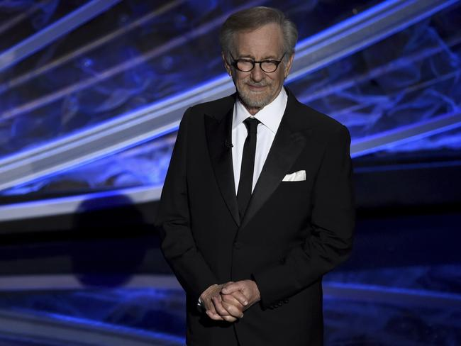 Steven Spielberg introduced the in memoriam tribute at the Oscars. Picture: AP