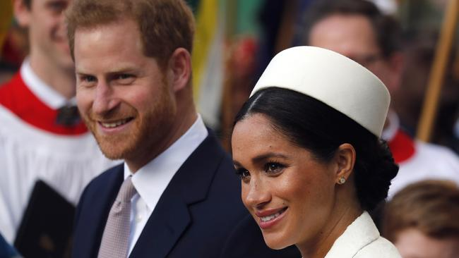 Harry and Meghan's storyline will likely play out in the comedy series, released through HBO. Picture: AP Photo.