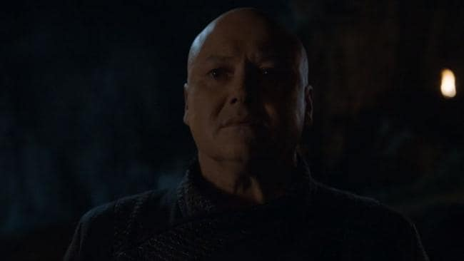 Varys' death at the hands of Dany's dragon happened swiftly in the episode's first few moments